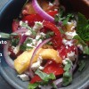 No-Cook July #4: Farm Fresh Tomato and Peach Salad with Basil and Feta