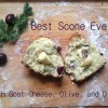 Best Scones Ever: Olive, Goat Cheese, and Dill