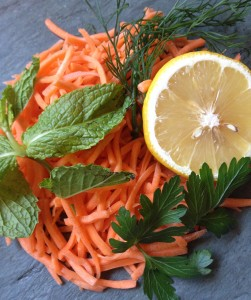 Minty-fresh carrot salad