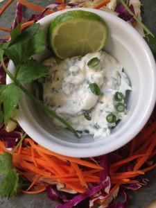 Healthy and Quick Fish Tacos with Cilantro-Lime Cream | http://simplicityssakeblog.com