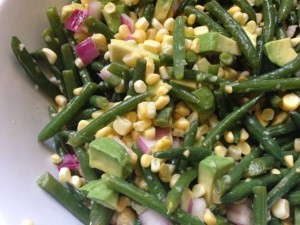 Gren Bean, Corn, and Avocado Salad | http://simplicityssakeblog.com