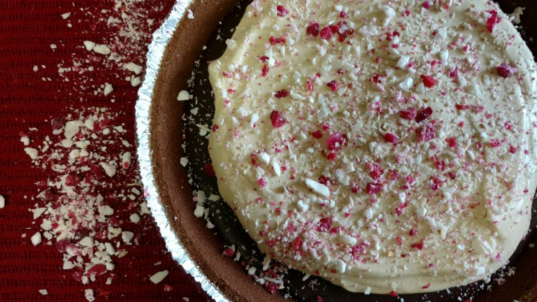 Peppermint Mocha Pie with Coffee Whipped Cream | http://simplicityssakeblog.com
