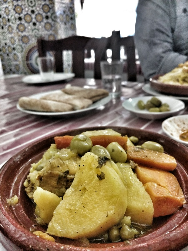 Our first real tajine and cous cous